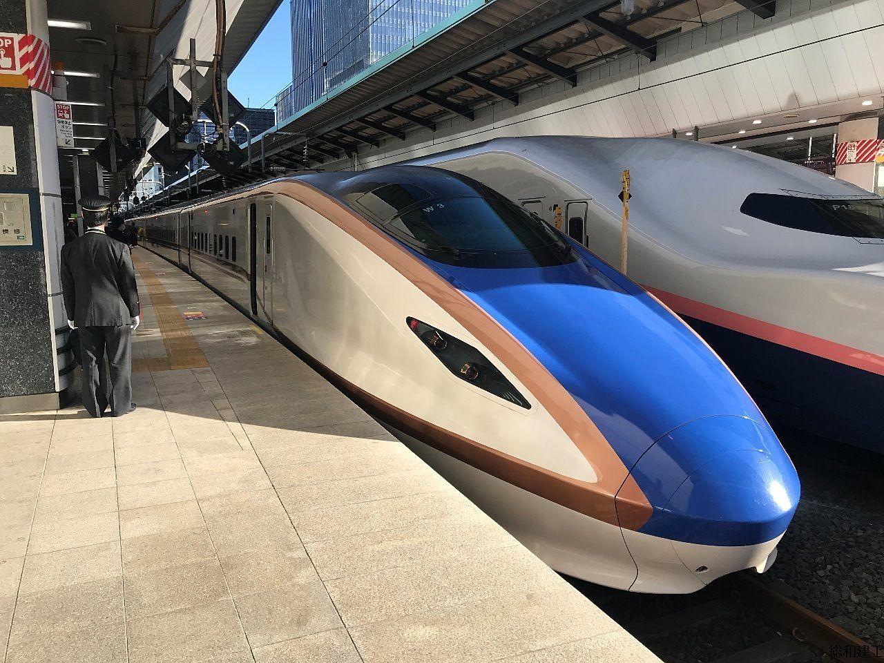 東京から富山まで2時間ちょっとで、つきました。