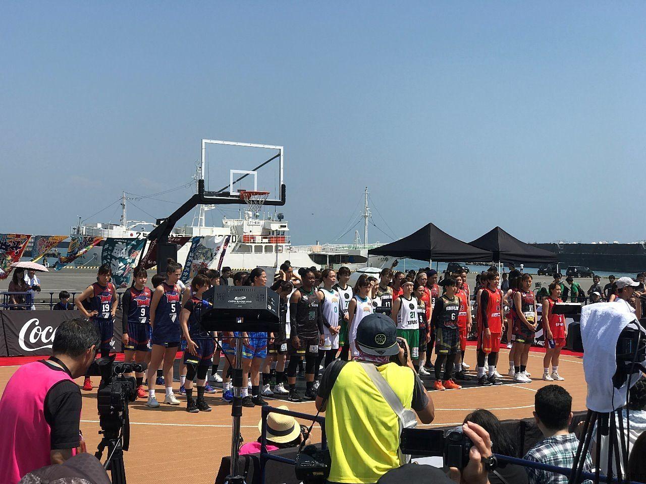 3×3バスケ 焼津漁港 開催